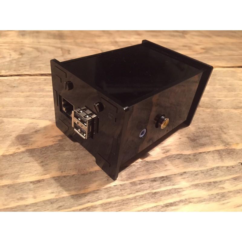 Acryl Zwarte Raspberry Pi behuizing RCA DAC