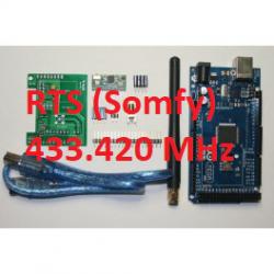 RFLink 433.42 (Somfy RTS) / Arduino / Antenne / USB kabel