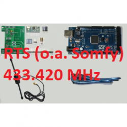 RFLink 433.42 (Somfy RTS)/ Arduino / Dipole / USB cable