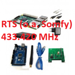 RFLink 433.42 (Somfy RTS)/Raspberry Pi 3 model B+ kit/Arduino/dipole/USB cable