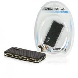Actieve 4-poorts USB 2.0 hub + adapter